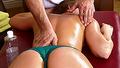 Nive butt well massaged and well pounded by a horny masseur